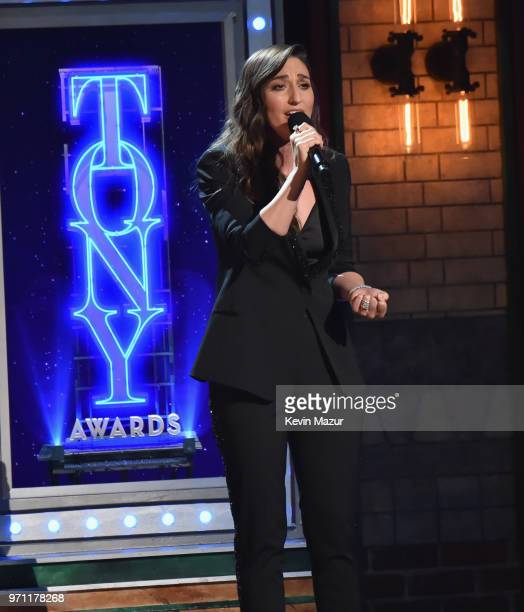 Sara Bareilles performs onstage during the 72nd Annual Tony Awards at Radio City Music Hall on June 10 2018 in New York City