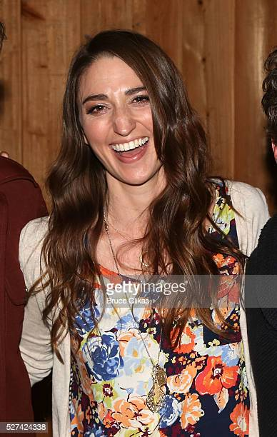 Sara Bareilles poses at the 'Waitress' Original Broadway Cast Album Recording at MSR Studios in Times Square on May 02 2016 in New York New York