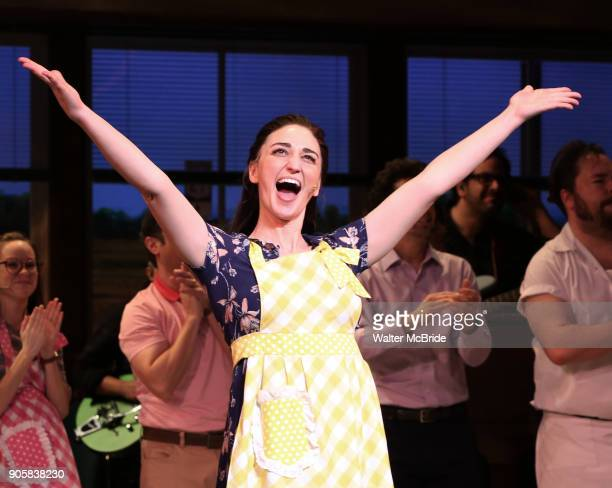 Sara Bareilles returns to Broadway's 'Waitress' starring with Jason Mraz at the Brooks Atkinson Theatre on January 16 2018 in New York City