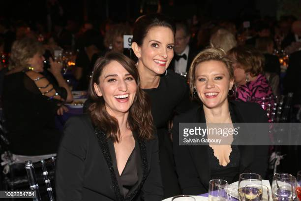 Sara Bareilles Tina Fey and Kate McKinnon attend American Museum Of Natural History's 2018 Museum Gala at American Museum of Natural History on...