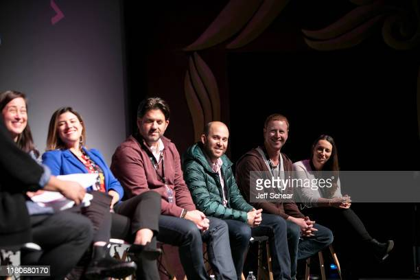 Sara Barkan Katie Gamelli Aron Giannini Max Grossman Alec Shankman and Jade Sherman attends the Catalyst Content Festival on October 12 2019 in...