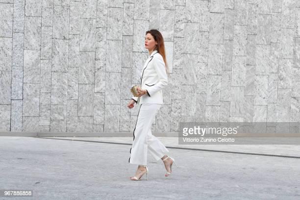 Sara Battaglia arrives at Convivio 2018 on June 5 2018 in Milan Italy