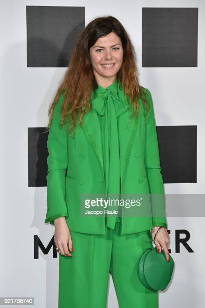 Sara Battaglia is seen at the Moncler Genius event during Milan Fashion Week Fall/Winter 2018/19 on February 20 2018 in Milan Italy