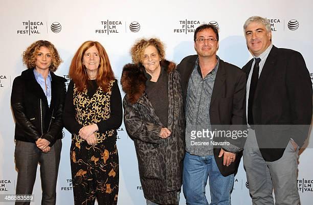 Sara Bernstein Elizabeth Swados Roz Lichter Robert Marianetti and David Wachtenheim attend the Shorts Program City Limits during the 2014 Tribeca...
