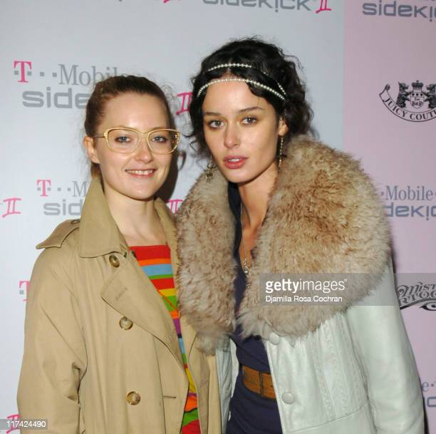 Sara Beth Stroller and Nicole Trunfio during TMobile Sidekick II Launch Party at Marquee in New York City New York United States