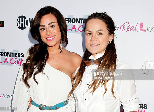 Sara Bettencourt and Whitney Mixter attend the season 3 premiere of Showtime's 'The Real L Word' held at Revolver on July 17 2012 in West Hollywood...