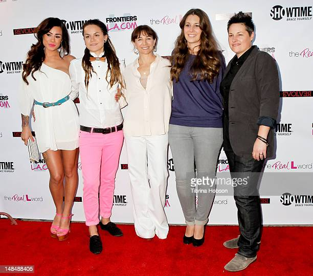Sara Bettencourt Whitney Mixter Ilene Chaiken Cori McGinnBoccumini and Kacy Boccumini attend the season 3 premiere of Showtime's 'The Real L Word'...