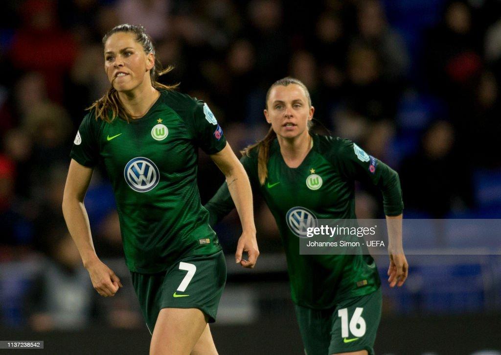 Olympique Lyon Women v VfL Wolfsburg Women - UEFA Women's Champions League: Quarter Final First Leg : News Photo