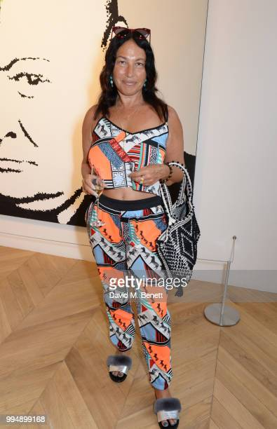 Sara Blonstein attends the Bansky 'Greatest Hits 20022008' exhibition VIP preview at Lazinc on July 9 2018 in London England