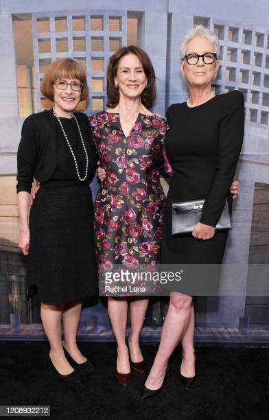 Sara Bloomfield Deborah Oppenheimer and Jamie Lee Curtis attend United States Holocaust Memorial Museum's '2020 Los Angeles Dinner What You Do...