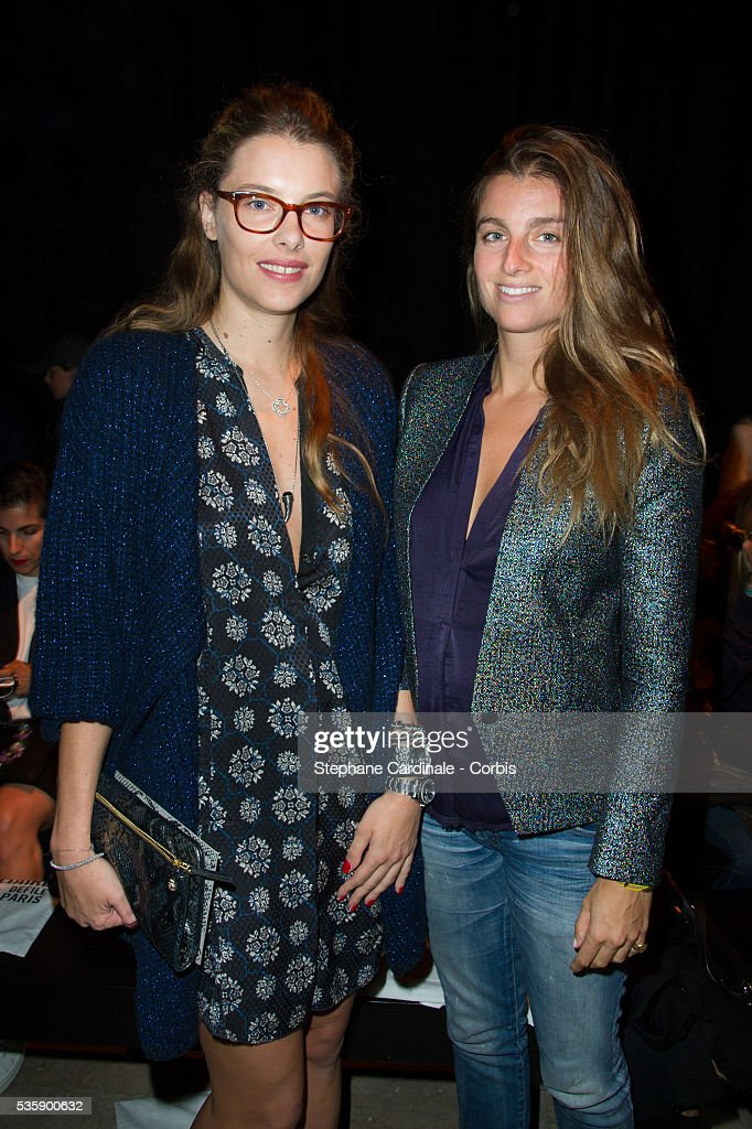 Sara Brajovic and Sonia Sieff attend the Zadig & Voltaire show at 'Palais de Tokyo', as part of the Paris Fashion Week Womenswear Spring/Summer 2014, in Paris.