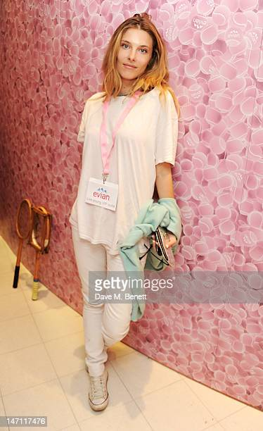 Sara Brajovic attends the evian 'Live young' VIP Suite at Wimbledon on June 25 2012 in London England