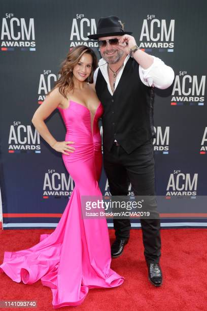 Sara Brice and Lee Brice attend the 54th Academy Of Country Music Awards at MGM Grand Garden Arena on April 07 2019 in Las Vegas Nevada