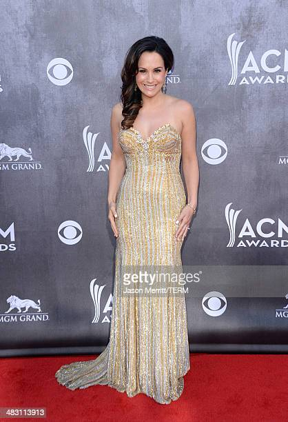 Sara Brice attends the 49th Annual Academy Of Country Music Awards at the MGM Grand Garden Arena on April 6 2014 in Las Vegas Nevada
