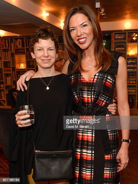 Sara Bronfman and Heather Kerzner attend the Saqqara Jewels lunch for Children In Crisis at the Belgraves Hotel on December 7 2015 in London England