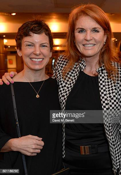 Sara Bronfman and The Duchess of York attend the Saqqara Jewels lunch for Children In Crisis at the Belgraves Hotel on December 7 2015 in London...