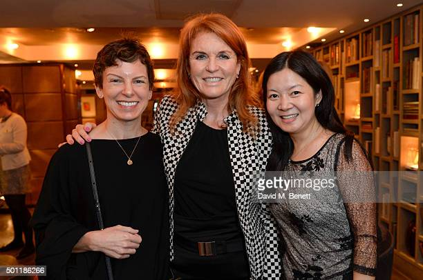 Sara BronfmanThe Duchess of York and Grace Sun attends the Saqqara Jewels lunch for Children In Crisis at the Belgraves Hotel on December 7 2015 in...