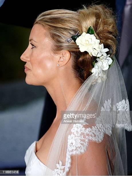 Sara Buys during Tom Parker Bowles And Sara Buys Wedding at St Nicholas Church in Rotherfield Greys Great Britain
