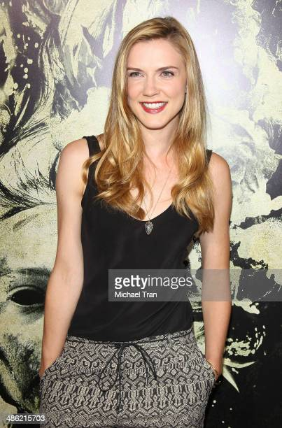 Sara Canning arrives at the Los Angeles Premiere of 'The Quiet Ones' held at The Theatre at Ace Hotel on April 22 2014 in Los Angeles California