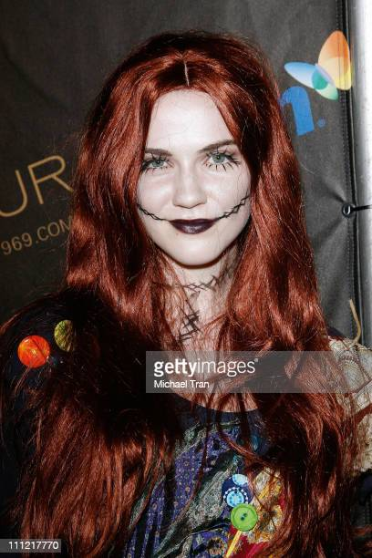 Sara Canning arrives to Heidi Klum's 10th Annual Halloween party held at Voyeur on October 31, 2009 in West Hollywood, California.