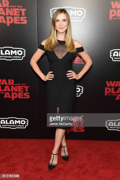 Sara Canning attends 'War for the Planet Of The Apes' premiere at SVA Theater on July 10 2017 in New York City