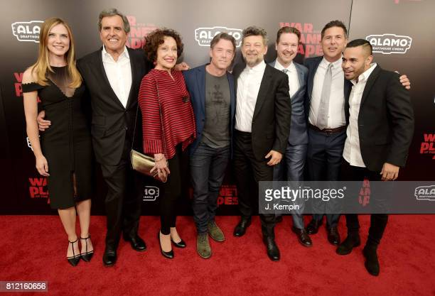 Sara Canning Peter Chernin Karin Konoval Terry Notary Andy Serkis Director Matt Reeves Dylan Clark and Gabriel Chavarria attend 'War for the Planet...