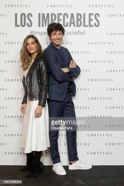 Sara Carbonero and Andres Velencoso present the 'Impecables by Cortefiel' capaign at Cortefiel flagship store on October 17 2018 in Madrid Spain