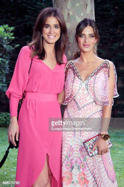 Sara Carbonero and Isabel Jimenez attend Elle Gourmet Awards photocall at Italian Embassy on June 19 2017 in Madrid Spain