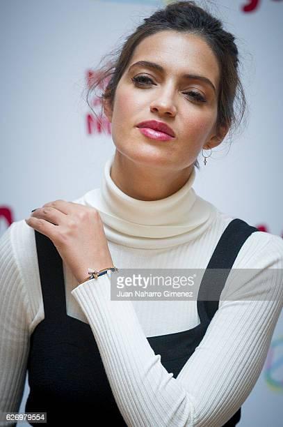 Sara Carbonero attends attends 'Diagolos Con Sara Carbonero Claves Para Conectar Con Los Ninos De Hoy' photocall at Sala Classic de Impact Hub Madrid...