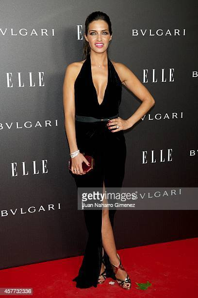 Sara Carbonero attends Elle Style Awards 2014 photocall at Italian Embassy on October 23 2014 in Madrid Spain