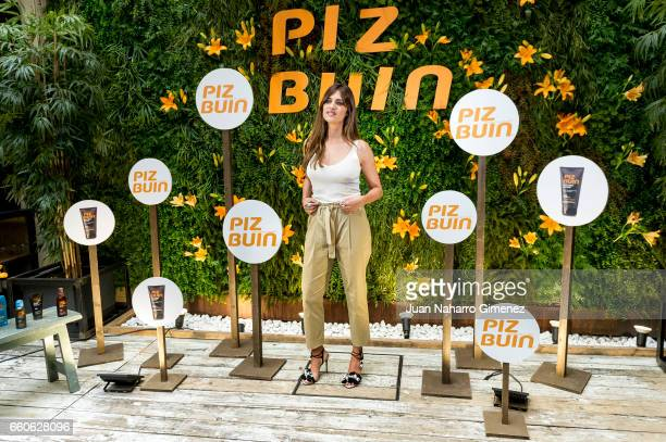 Sara Carbonero attends 'Piz Buin' photocall on March 30 2017 in Madrid Spain