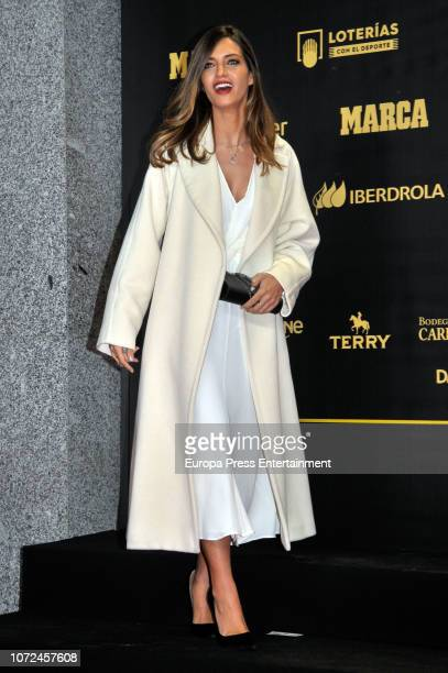 Sara Carbonero attends the 80th Anniversay of 'Marca' Newspaper at Royal Palace on December 13 2018 in Madrid Spain