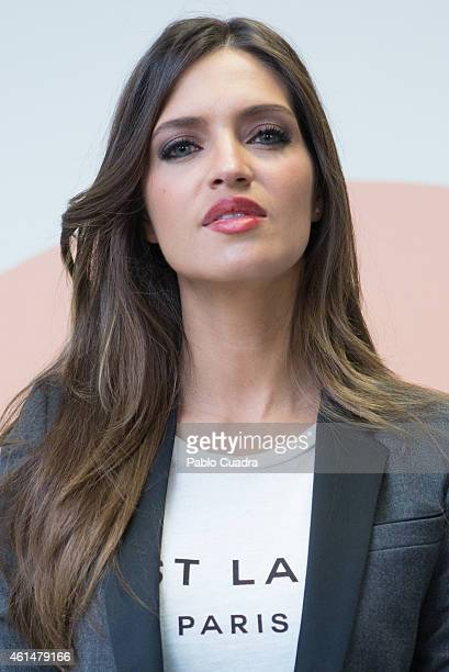 Sara Carbonero attends the 'Mediaset' news annual meeting at 'Mediaset' studios on January 13, 2015 in Madrid, Spain.