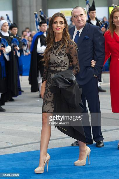 Sara Carbonero attends the Prince of Asturias Awards 2012 ceremony at the Campoamor Theater on October 26 2012 in Oviedo Spain