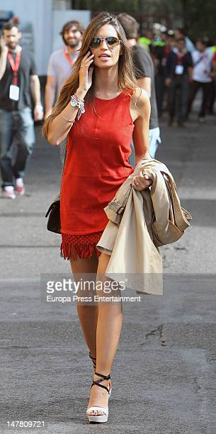 Sara Carbonero attends UEFA EURO 2012 Champions Spain Victory Celebrations on July 2, 2012 in Madrid, Spain.