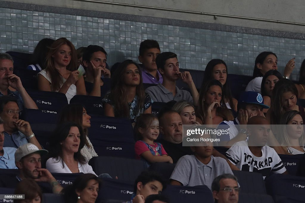 Sara Carbonero FC Porto's goalkeeper from Spain Iker Casillas wife during the match between FC Porto v Villarreal CF friendly match at Estadio do Dragao on August 6, 2016 in Porto, Portugal.