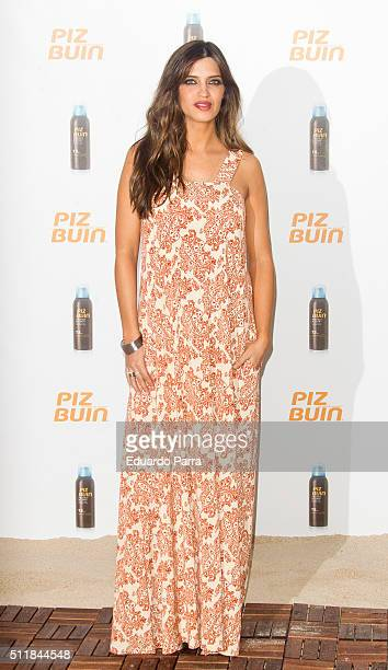 Sara Carbonero is presented as the new face of 'Piz Buin' at Workshop Experience on February 23 2016 in Madrid Spain