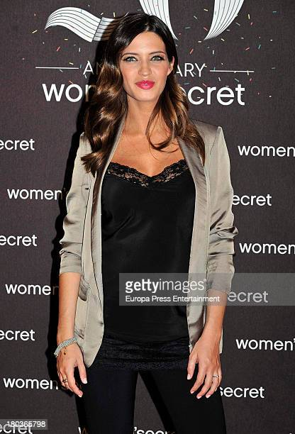 Sara Carbonero is presented as the new image of Women's Secret on September 11 2013 in Madrid Spain