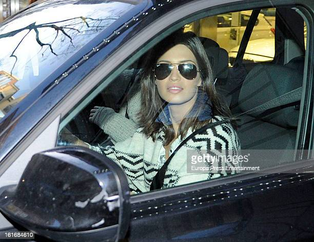 Sara Carbonero is seen buying a new car on January 24 2013 in Madrid Spain