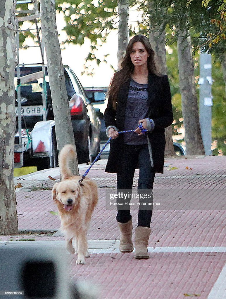 Sara Carbonero Sighting In Madrid - November 21, 2012