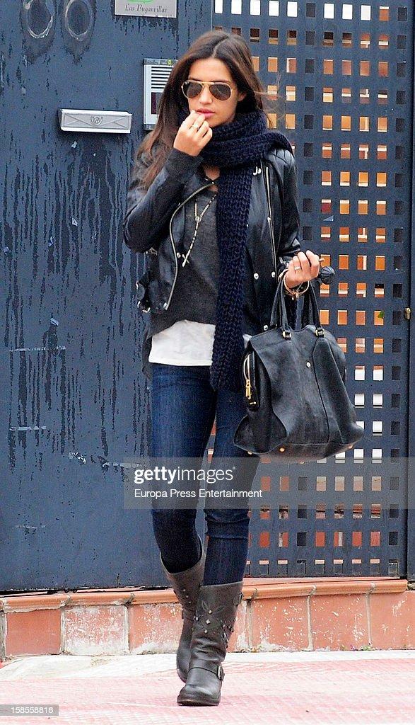Sara Carbonero is seen on December 18, 2012 in Madrid, Spain.