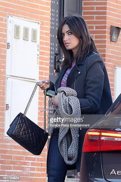 Sara Carbonero is seen on February 14 2013 in Madrid Spain