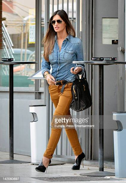 Sara Carbonero is seen on March 22 2012 in Madrid Spain