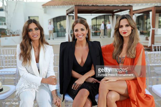 Sara Carbonero Paula Echevarria and Ariadne Artiles attend Calzedonia Summer Show 2019 at Hotel Destino Ibiza on May 09 2019 in Ibiza Spain