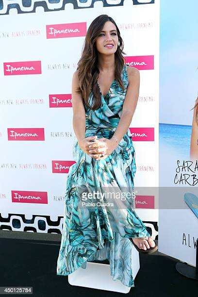 Sara Carbonero presents 'Always New Always Ipanema' Ipanema footwear collection at the Room Mate«s terrace on June 5 2014 in Madrid Spain