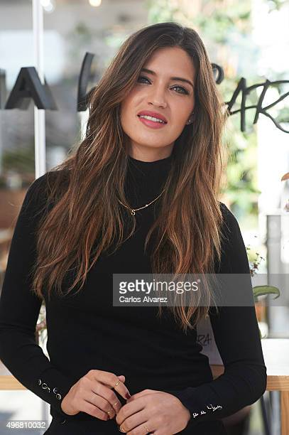 Sara Carbonero presents her first Jewellry collection 'Agatha By Sara' at the The Hat Hotel on November 12 2015 in Madrid Spain