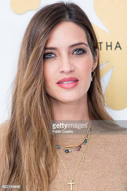 Sara Carbonero presents her new jewellry collection for Agatha Paris on November 10 2016 in Madrid Spain