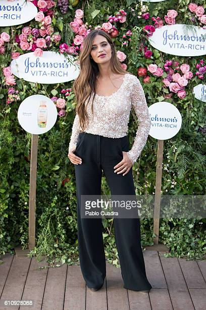 Sara Carbonero presents Johnson's Vita Rich at Room Mate Oscar hotel on September 28 2016 in Madrid Spain