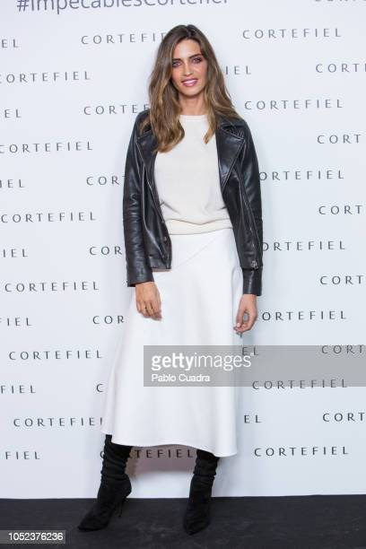 Sara Carbonero presents 'Los Impecables' campaign by Cortefiel on October 17 2018 in Madrid Spain