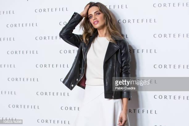 Sara Carbonero presents 'Los Impecables' campaign by Cortefiel on October 17 2018 in Madrid Spain